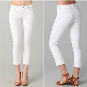 Citizens of Humanity white Dani ankle cropped jean